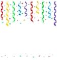 Rainbow streamer vector image vector image