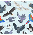 ravenous birds seamless pattern vector image