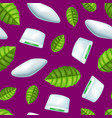 realistic detailed 3d mints gum seamless pattern vector image vector image