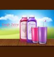 realistic juice bottles vector image