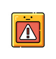 risks lineal color icon vector image vector image