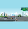 road pipe repair vector image