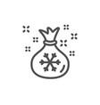 santa sack line icon christmas or new year sign vector image