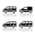 Set of transport icons - cargo van vector | Price: 1 Credit (USD $1)