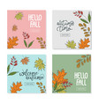 set trendy abstract square banner templates