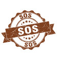 sos stamp sign seal vector image vector image