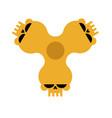 spinner skull isolated bones fidget finger toy vector image vector image