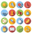 Sport icons set colored flat vector image