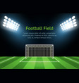 spotlights and football field card poster vector image vector image