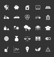 Sufficient economy icons on gray background vector image vector image