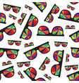 sunglasses with multicolored glasses isolated on vector image