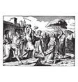 the stoning of stephen the first martyr vintage vector image vector image