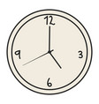 time clock watch wall vector image