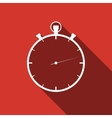 Timer icon with long shadow vector image vector image
