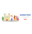 tour guide advertising banner tourist website vector image vector image