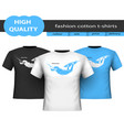 trendy realistic cotton t-shirts isolated on vector image