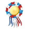 tricolor winner award vector image vector image