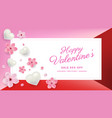 valentines day sale background with flowers vector image vector image