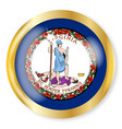 virginia flag button vector image vector image