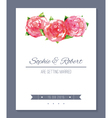 Watercolor wedding card vector image vector image
