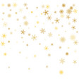 white christmas snowflakes background gold vector image