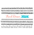 hand - drawn borders collection of simple hand - vector image