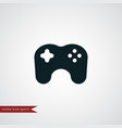 game controller icon simple vector image