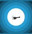 isolated anglerfish flat icon fish element vector image