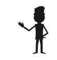 Cartoon businessman silhouette vector image