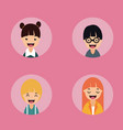 happy smiling people collection vector image