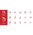 15 cable icons vector image vector image