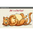 A fat cat vector image vector image