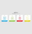 apply icons vector image vector image