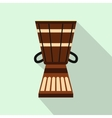 Australian ethnic drum icon flat style vector image vector image
