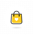 bag shopping icon vector image vector image