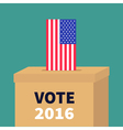 Ballot Voting box with American flag paper blank vector image vector image