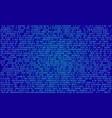 Binary programming code digital technology