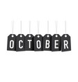 black october tags vector image vector image