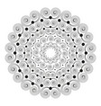 black white round mandala with spirals vector image vector image