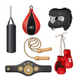boxing equipment punchbag on chain protective vector image vector image