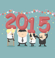 businessman happy new year party vector image
