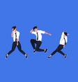 businessmen dancing in different poses male vector image