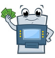 cartoon atm machine vector image