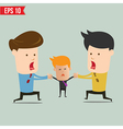 Cartoon business man snatching people - - EP vector image
