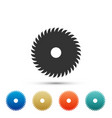 circular saw blade icon on white background vector image
