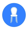 Classical chair icon in black style isolated on
