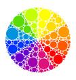 color wheel or color circle vector image vector image