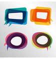 Colorful speech bubbles round and square layers vector image