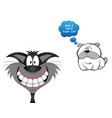 comical i hate that cat vector image vector image