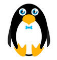 cute stuffed penguin toy vector image